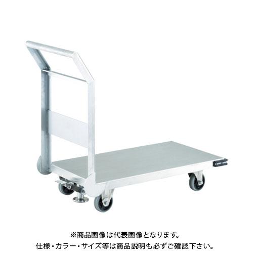 【直送品】TRUSCO ステンレス鋼板製運搬車 固定式 800X450 S付 SHS-3S