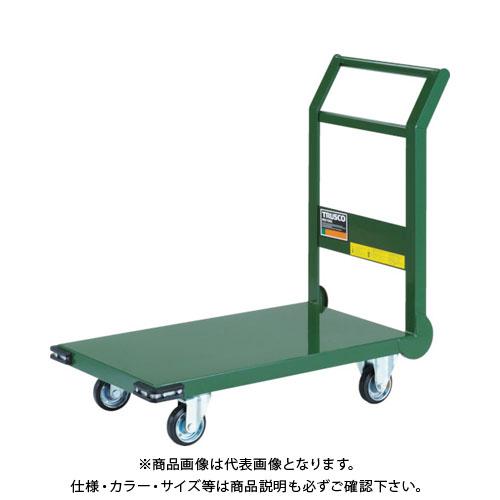 【直送品】TRUSCO 鋼鉄製運搬車 導電性 800X450 GN SH-3NE-GN