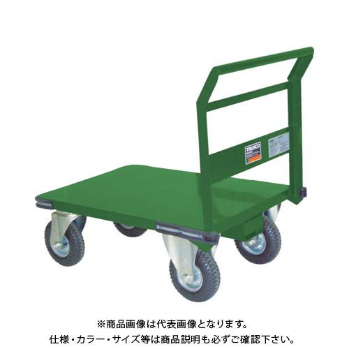 【直送品】TRUSCO 鋼鉄製運搬車 プレス製空気入タイヤ付 1200X600 SH-2LN-AR
