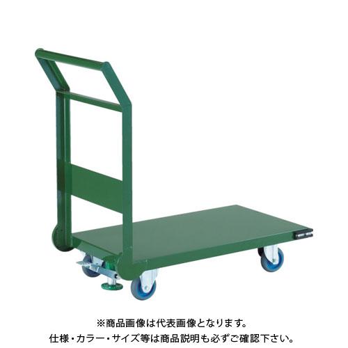 【直送品】TRUSCO 鋼鉄製運搬車 1200X750 Φ200エアキャスター LS付 SH-1NACSS