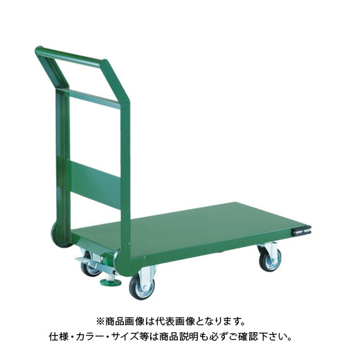 【直送品】 TRUSCO 鋼鉄製運搬車 1200X750 導電性キャスター LS付 SH-1NESS