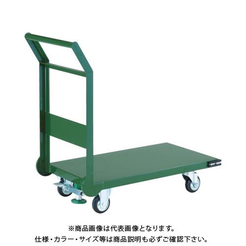 【直送品】TRUSCO 鋼鉄製運搬車 1200X750 Φ200プレス車 LS付 SH-1NSS