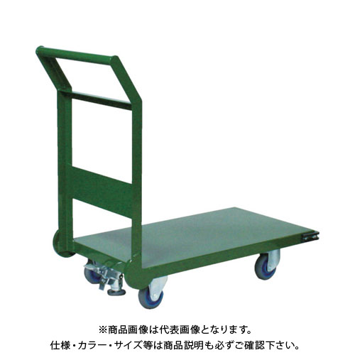 【直送品】TRUSCO 鋼鉄製運搬車 1200X600 Φ150エアキャスター LS付 SH-2LNACSS