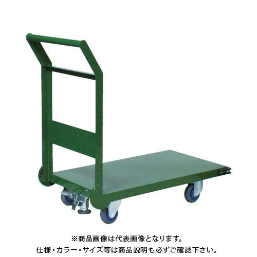 【直送品】TRUSCO 鋼鉄製運搬車 800X450 Φ100エアキャスター LS付 SH-3NACSS