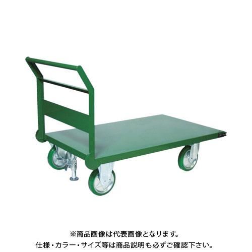 【直送品】TRUSCO 鋼鉄製運搬車 1トン 1200X750 緑 S付 SH10-1S