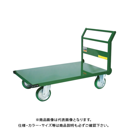 【直送品】TRUSCO 鋼鉄製運搬車 1トン 900X600 緑 SH10-2