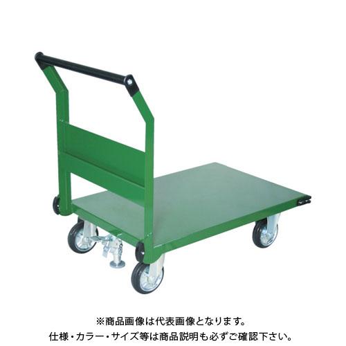 【直送品】TRUSCO 鋼鉄製運搬車 800X450 ハンドル側自在車 LS付 SH-3RSS