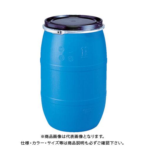 【個別送料1000円】【直送品】 サンコー プラドラムオープンタイプPDO120L-1青 SKPDO-120L-1-BL