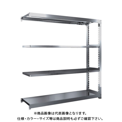 【直送品】 TRUSCO SM3型SUS棚 1800X471XH1800 4段 連結 SM3-6654B