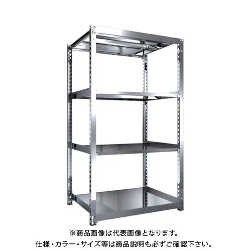 【直送品】 TRUSCO SM3型SUS棚 1200X921XH2100 4段 単体 SM3-7494