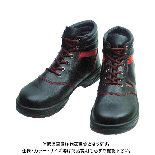 シモン 安全靴 編上靴 SL22-R黒/赤 24.5cm SL22R-24.5