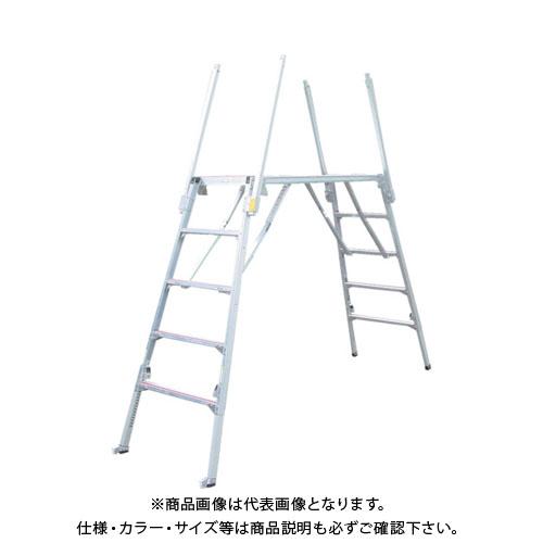 【直送品】 ナカオ 可搬式作業台楽駝15号 SKY-15-4
