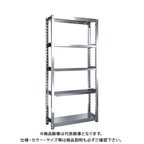 【直送品】 TRUSCO ステンレス軽中量棚 単体 W860XD300XH1800 5段 SM2-6335