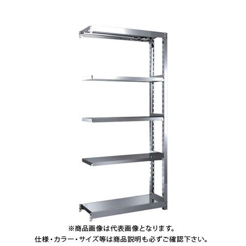 【直送品】 TRUSCO ステンレス軽中量棚 増結 W860XD300XH1800 5段 SM2-6335B
