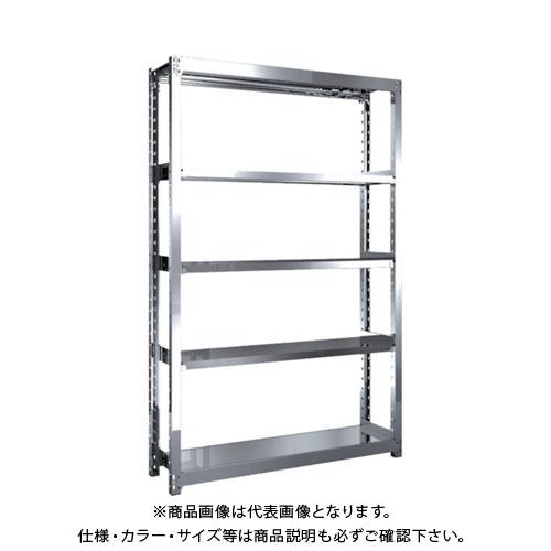 【直送品】 TRUSCO ステンレス軽中量棚 単体 W1160XD300XH1800 5段 SM2-6435