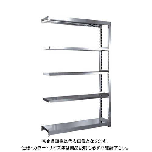 【直送品】 TRUSCO ステンレス軽中量棚 増結 W1160XD300XH1800 5段 SM2-6435B