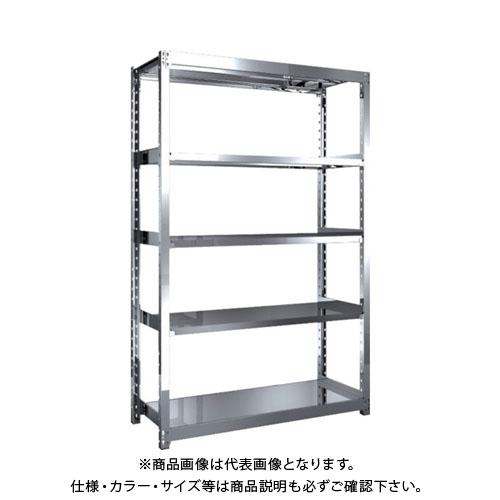 【直送品】 TRUSCO ステンレス軽中量棚 単体 W1160XD450XH1800 5段 SM2-6445