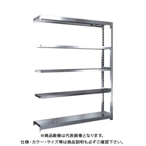 【直送品】 TRUSCO ステンレス軽中量棚 増結 W1460XD300XH1800 5段 SM2-6535B