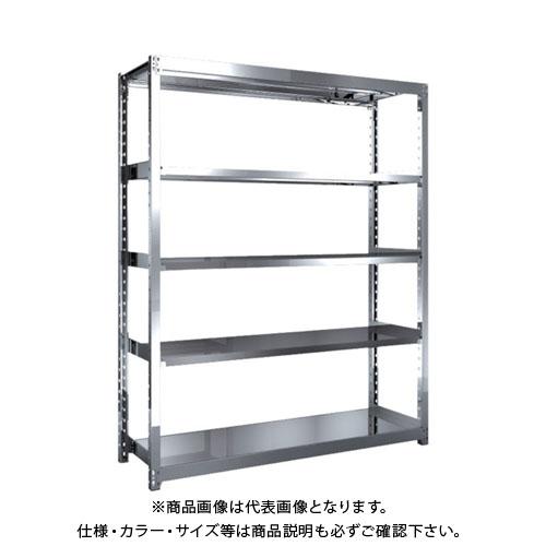 【直送品】 TRUSCO ステンレス軽中量棚 単体 W1460XD450XH1800 5段 SM2-6545