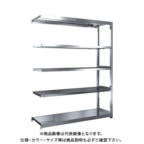 【直送品】 TRUSCO ステンレス軽中量棚 増結 W1460XD450XH1800 5段 SM2-6545B