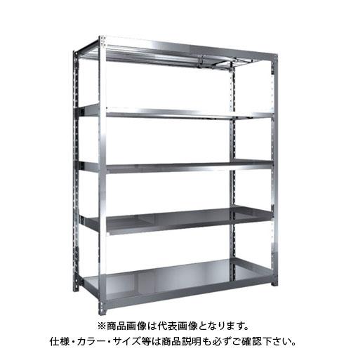 【直送品】 TRUSCO ステンレス軽中量棚 単体 W1460XD600XH1800 5段 SM2-6565