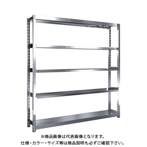 【直送品】 TRUSCO ステンレス軽中量棚 単体 W1760XD300XH1800 5段 SM2-6635