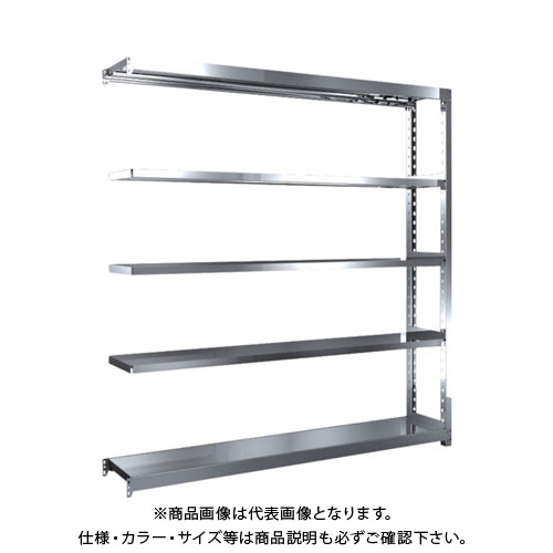 【直送品】 TRUSCO ステンレス軽中量棚 増結 W1760XD300XH1800 5段 SM2-6635B