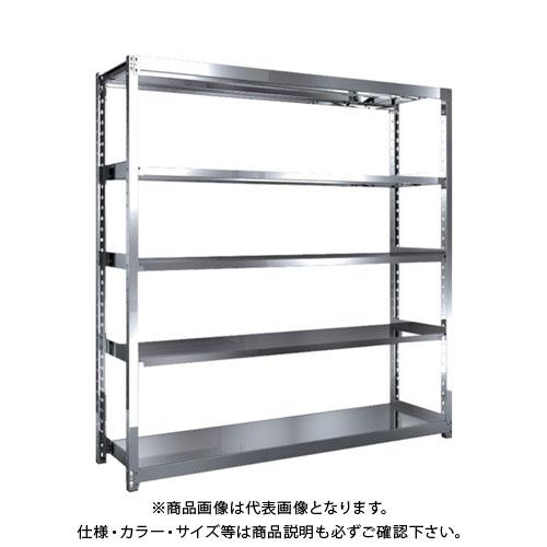 【直送品】 TRUSCO ステンレス軽中量棚 単体 W1760XD450XH1800 5段 SM2-6645