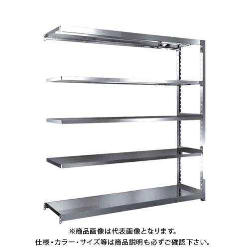 【直送品】 TRUSCO ステンレス軽中量棚 増結 W1760XD450XH1800 5段 SM2-6645B