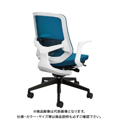 【運賃見積り】【直送品】 ナイキ 事務用チェア ブルー 肘なし SLE512FB-BL