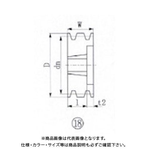 【個別送料1000円】【直送品】EVN ブッシングプーリー SPB 200mm 溝数3 SPB200-3