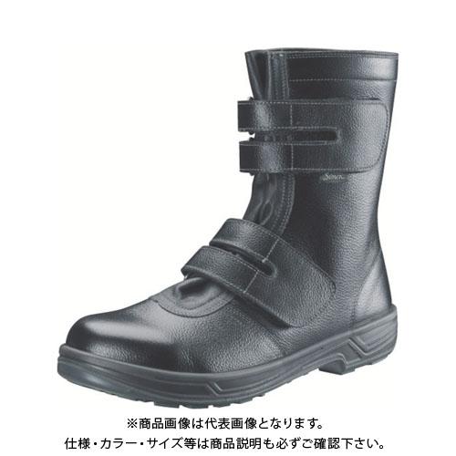 シモン 安全靴 長編上靴マジック式 SS38黒 25.5cm SS38-25.5