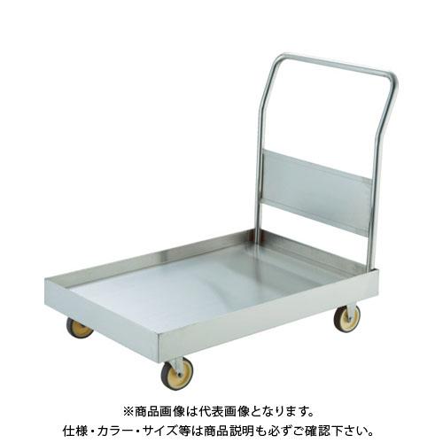 【直送品】 TRUSCO オールSUS304 皿型台車 1200X750 NU車輪 S付 SSAR-1NU-S