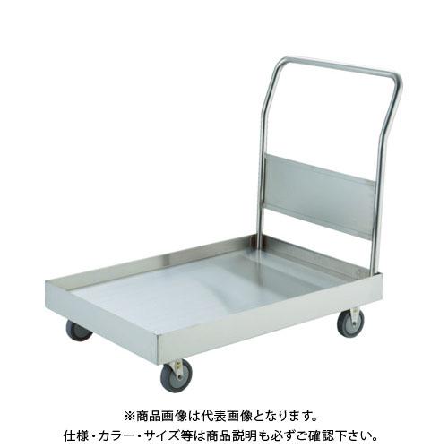 【直送品】TRUSCO オールSUS304 皿型台車 900X600 導電U車輪 S付 SSAR-2DU-S