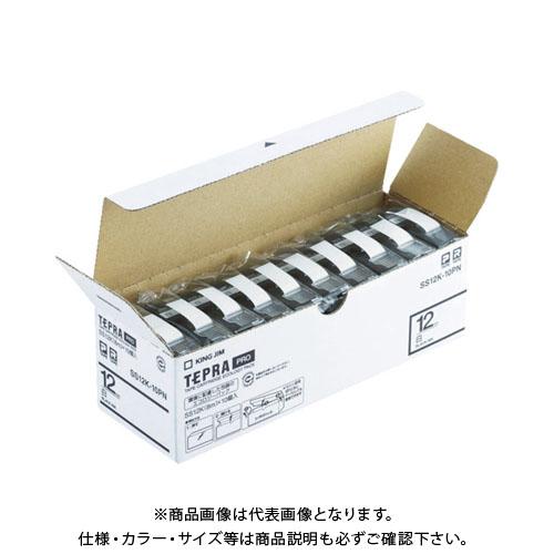 キングジム 「テプラ」PROテープエコパック(10個入り)白 SS18K-10PN