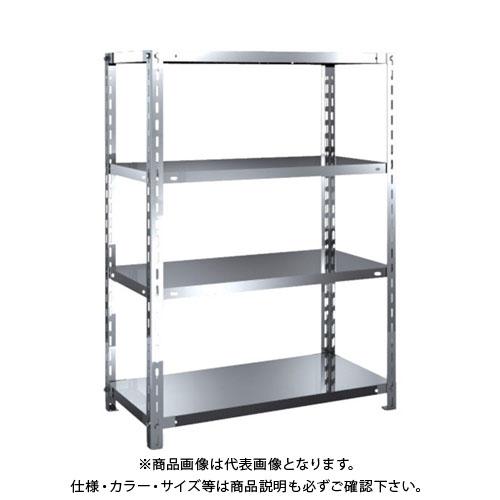 【直送品】 TRUSCO SUS304製軽量棚 875XD450XH1200 天地4段 SU3-4344