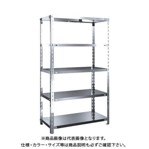【直送品】 TRUSCO SUS304製軽量棚 875XD450XH1500 天地5段 SU3-5345