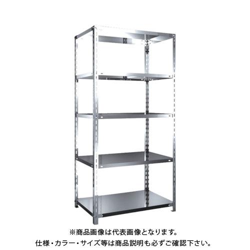 【直送品】 TRUSCO SUS304製軽量棚 875XD600XH1800 天地5段 SU3-6365