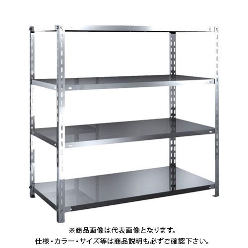 【直送品】 TRUSCO SUS304製軽量棚 1200XD600XH1200 天地4段 SU3-4464