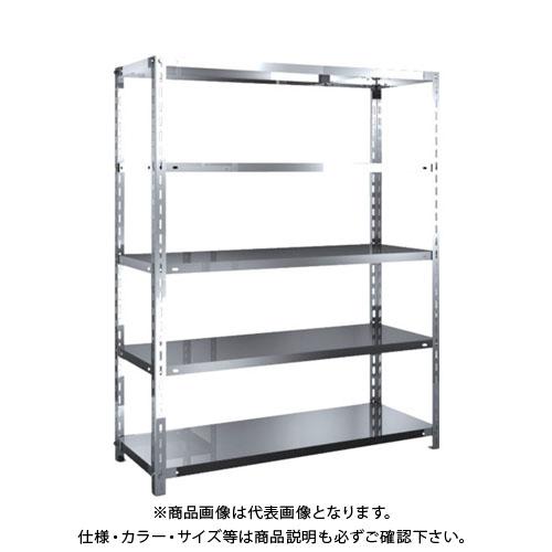 【直送品】 TRUSCO SUS304製軽量棚 1200XD450XH1500 天地5段 SU3-5445