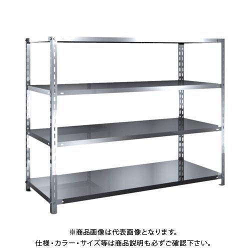 【直送品】 TRUSCO SUS304製軽量棚 1500XD600XH1200 天地4段 SU3-4564