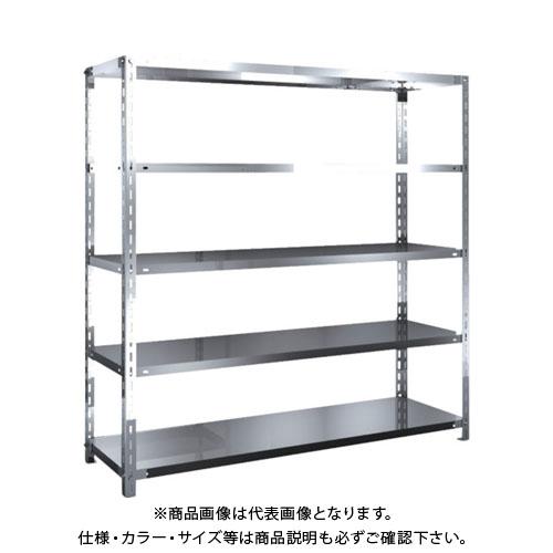 【直送品】 TRUSCO SUS304製軽量棚 1500XD450XH1500 天地5段 SU3-5545
