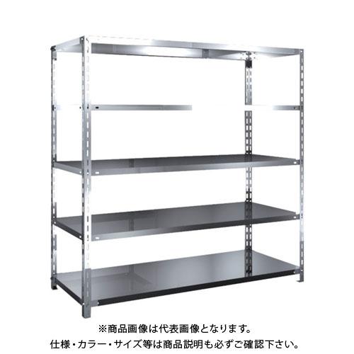 【直送品】 TRUSCO SUS304製軽量棚 1500XD600XH1500 天地5段 SU3-5565
