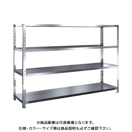 【直送品】 TRUSCO SUS304製軽量棚 1800XD450XH1200 天地4段 SU3-4644