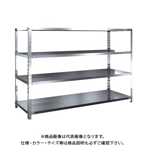 【直送品】 TRUSCO SUS304製軽量棚 1800XD600XH1200 天地4段 SU3-4664