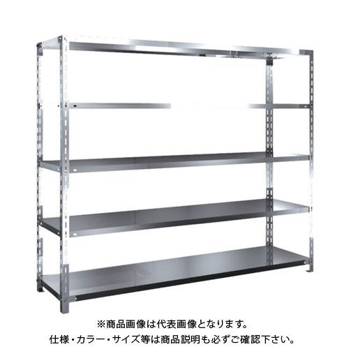 【直送品】 TRUSCO SUS304製軽量棚 1800XD450XH1500 天地5段 SU3-5645