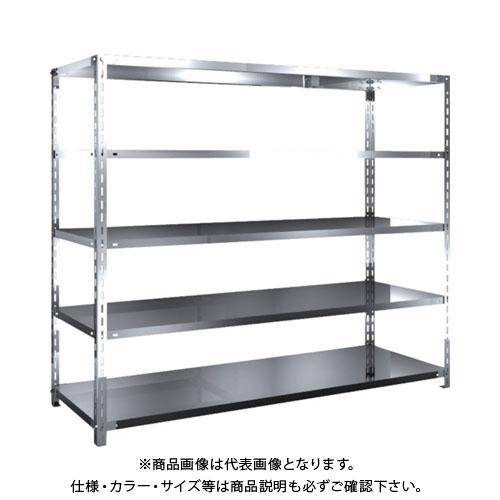 【直送品】 TRUSCO SUS304製軽量棚 1800XD600XH1500 天地5段 SU3-5665