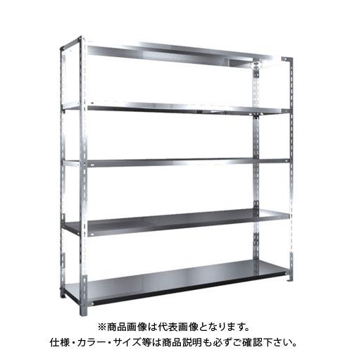 【直送品】 TRUSCO SUS304製軽量棚 1800XD450XH1800 天地5段 SU3-6645