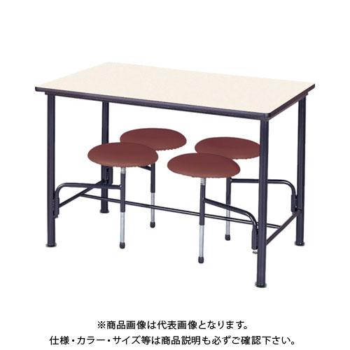 【直送品】 ニシキ 食堂テーブル 4人掛 ブラウン STM1275BR