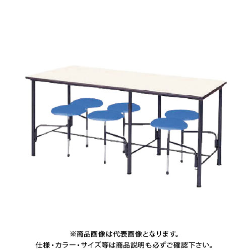 【運賃見積り】【直送品】 ニシキ 食堂テーブル 6人掛 ブルー STM1875B